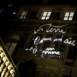Via Garibaldi, le luci sui palazzi