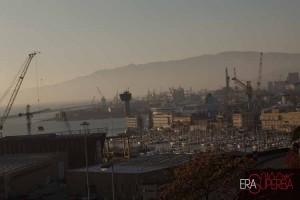 panorama del porto di genova