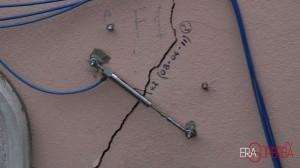 La crepa nel muro di via Bocciardo