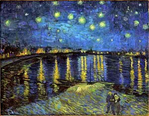 Van Gogh notte stellata sul Rodano