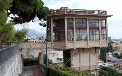 Castelletto: restaurato lo storico ascensore reso famoso da Caproni