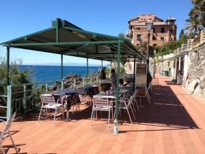 Ristorante sul mare a Genova Nervi