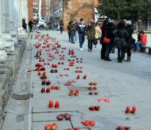 Zapatos rojos a Milano