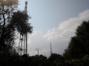 Le antenne di Genova Radio a Quarto