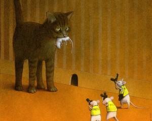 Social Illusion: le illustrazioni dell'artista polacco Pawel Kuczyński in mostra