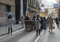 Buridda, il flash mob in stile medievale contro la vendita degli spazi occupati