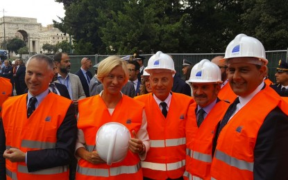 Renzi non va sul Bisagno. Lavori del terzo lotto inaugurati da Doria, Toti e Pinotti