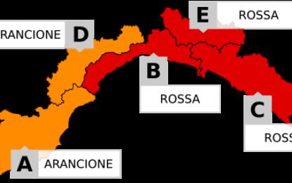 Genova, allerta meteo ROSSA venerdì 14 ottobre dalle 3 alle 24. SCUOLE CHIUSE