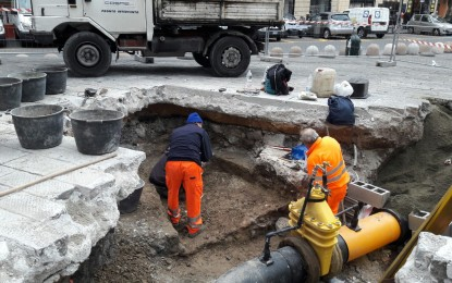 Piazza Matteotti, dagli scavi spuntano resti attigui ad una domus romana già scoperta negli anni '70