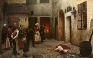 "Jakub Schikaneder, ""Murder in the House"""