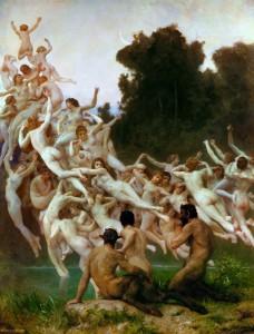 Les Oreades di W.A. Bouguereau
