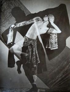 Edmund Kesting, Javanischer Tänzer, 1930 fotografia, doppia esposizione